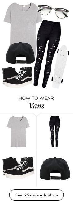 """Let's go Penny boarding!"" by eemaj on Polyvore featuring Yves Saint Laurent and Vans"