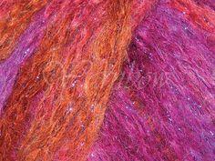 Rowan ::Kidsilk Amore Shimmer #515:: Mohair Silk Bulky Yarn Flaming  50% Off!