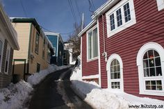 The Battery in Winter, St. John's Newfoundland.