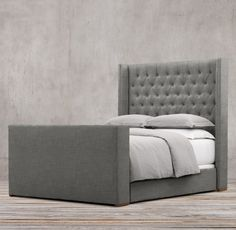 Adler Shelter Diamond-tufted Fabric Platform Bed With Footboard