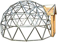 Covering the GeoDome Greenhouse can be challenging. We explain how to cover a GeoDome with greenhouse plastic, polycarbonate panels, and shrink wrapping. Geodesic Dome Kit, Geodesic Dome Greenhouse, Storage Shed Plans, Built In Storage, Rv Storage, Sauna Infravermelho, Dome Structure, Shed Plans 12x16, Polycarbonate Panels
