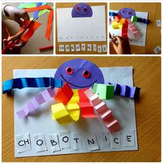 Chobotnice Craft Projects For Kids, Ocean Themes, Hobbies And Crafts, Origami, Draw, School, Creative, Animals, Activities