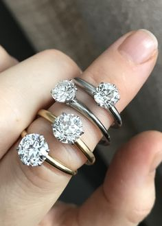 Ring in the New Year with Tiffany & Co.! Four stunning solitaire vintage Tiffany engagement rings.