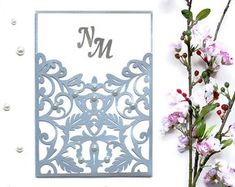 Wedding invitation SVG ai CRD eps Dride and Silhouette Cameo Boxes, Cricut Wedding Invitations, Laser Paper, Pop Up Cards, Vintage Lace, All Design, Paper Cutting, Color Show, Etsy