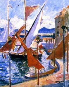 Henri Manguin - Le 14 Juillet à Saint-Tropez, côté droit (1905)