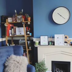 Beautifully Blue and the Mr Turner clock by @littleowlloves #newgateclocks
