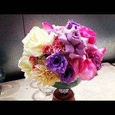 Wedding floral table centerpiece. @paulfennerfloraldesign.com