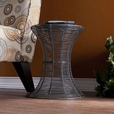 silver wire accent table $57