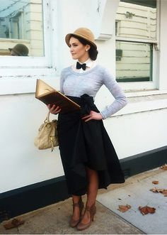 I love the bow tie- completes the outfit!