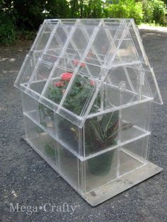This little greenhouse is made from 40 upcycled CD cases that are hinged together. In addition to being quite the conversation piece, it's a great spot for getting an early start on planting seedlings.