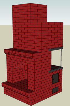 Камино-печь для дачного домика площадью 24м2 | Печи и камины своими руками