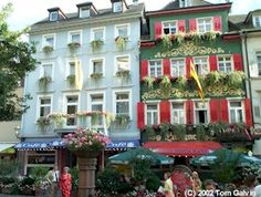 Along Baden-Baden's Main Street;  Baden-Baden is sometimes referred to as the gateway to the Black Forest.