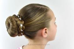 Ribbon Braid Wrapped Sock Bun from Babes in Hairland