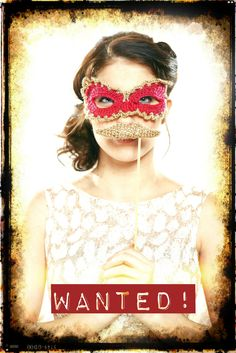 crochet mask and moustache