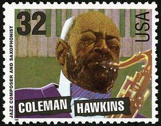 Coleman Hawkins, born in 1904, was the first artist to move the tenor saxophone from the reed section to the status of a solo instrument in jazz. Hawkins first emerged as a composer while playing in the Fletcher Henderson Orchestra. From 1934 to 1939, he toured England and Europe freelancing and appearing as a guest star with prestigious groups.