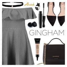"""Check Republic: Gingham Dress"" by dora04 ❤ liked on Polyvore featuring Boohoo, Givenchy, Amanda Rose Collection, Lancôme, MAC Cosmetics, Belk & Co. and gingham"