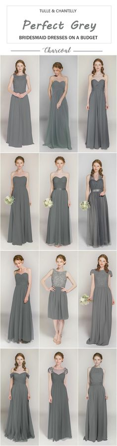 perfect Charcoal gray bridesmaid dresses on a budget