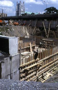 Construction de la station de métro Crémazie. Juin 1965. V…   Flickr Montreal Ville, Photos, Construction, June, Building, Pictures