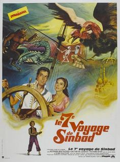The 7th Voyage of Sinbad - Movie Poster - 27 x 40 Add this spectacular poster to your collection today!. This poster measures approx. 27 x 40.. This poster is from The 7th Voyage of Sinbad (1958).  #PuntDogPosters #Home