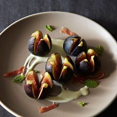 Richard Olney's Fresh Fig and Mint Salad recipe on Food52