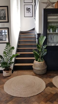 Ellie Tildesley: A Guide to Painting Your Stairs! > Let's Talk. Stair Landing Decor, Staircase Wall Decor, Dark Staircase, Small Staircase, Home Living Room, Living Room Decor, Entrance Hall Decor, Looking For Houses, Basement Inspiration