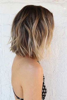 Balayage Hair Color Ideas for Shoulder Length Hair. After the hot ombre hairstyles, more and more people trying the balayage,Balayage hairstyles and trends for dark . Short Hairstyles For Women, Pretty Hairstyles, Hairstyle Ideas, Hairstyles 2018, Straight Hairstyles, Choppy Bob Hairstyles, Hairstyle Short, Layered Hairstyles, Wedding Hairstyles