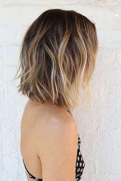 Short Balyage Ombre Hair