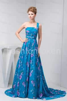 ... > Special Occasion Dresses >A-Line Sleeveless Chiffon Pageant Dress