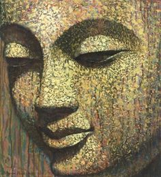 """Remember that your perception of the world is a reflection of your state of consciousness."" ~ Eckhart Tolle Artist: Virginia Peck From the Series: Faces of Buddha lis Buddha Face, Buddha Zen, Buddha Buddhism, Buddhist Art, Buddha Painting, Buddha Drawing, Painting Art, Buddha Thoughts, Zen Art"