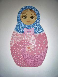 paper iris folded babushka doll