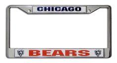 NFL Chicago Bears Chrome Licensed Plate Frame Rico…
