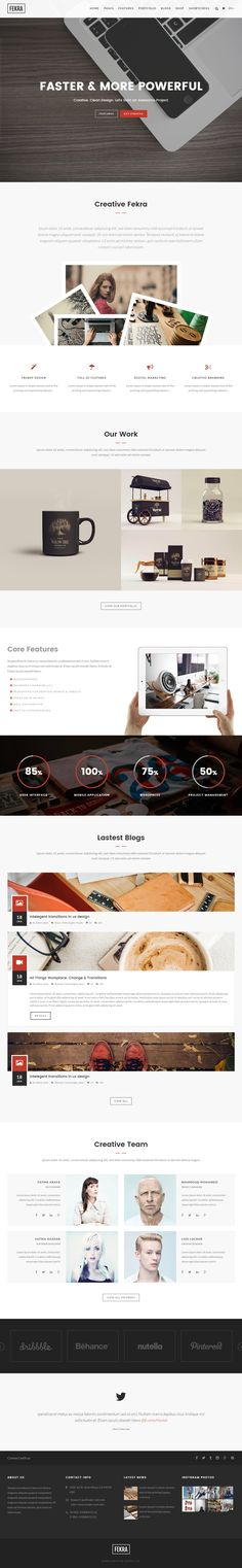 Fekra is Premium full Responsive Retina #HTML5 Multipurpose #Template. #ParallaxScrolling. Bootstrap 3 Framework. Mailchimp. Test free demo at: http://www.responsivemiracle.com/fekra-premium-responsive-onemulti-page-html5-template/