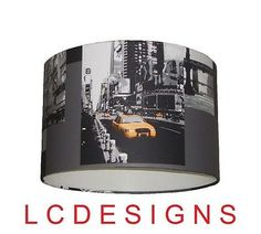 """New york city yellow #cab,times square handmade #wallpaper #lampshade 12"""",  View more on the LINK: http://www.zeppy.io/product/gb/2/290759366602/"""