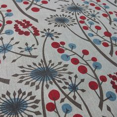 Angie Lewin - new Hedgerow colourway on natural linen