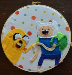 Finn and Jake Hoop Embroidery