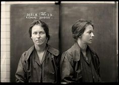 Alice Adeline Cooke,  December 1922. Convicted of bigamy and theft. By the age of 24 Alice Cooke had amassed an impressive number of aliases and at least two husbands. Described by police as 'rather good looking', Cooke was a habitual thief and a convicted bigamist. Aged 24