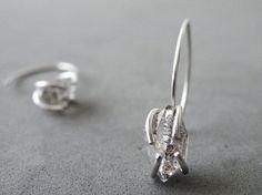 Herkimer Diamonds Earrings Sterling Silver Dangle Earrings Zen Jewelry by SteamyLab on Etsy, $60.00