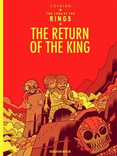 The Return of the King, a la Tintin - Dan Hipp