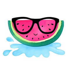 Margaret Berg Art: Fruity+Friend:+Watermelon