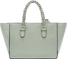 Valentino Seafoam Braided Leather Small Tote #PinScheduler http://mbsy.co/tailwind/18956816