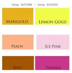 deep autumn vs deep winter colors