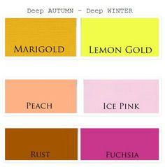 deep autumn vs deep winter colors