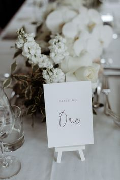 Wedding table number | @whiteinkdesignco