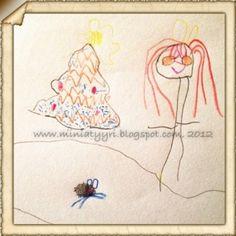 Tyttö, joulukuusi ja hamsteri - Girl, Christmas tree and the hamster | Miniatyyria
