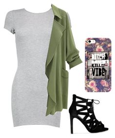 """""""She's a bad thang """" by nightmarelove ❤ liked on Polyvore featuring Boohoo"""