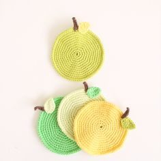 My apple coasters :) having a giveaway of these in Instagram account, Majamelon (ends 7/3).