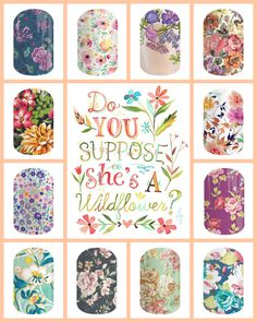 Love the floral wraps !