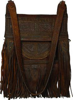 antique moroccan #leather #fez #bag
