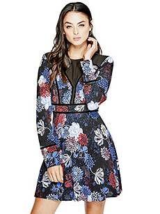 Marinda Floral-Print Dress   GUESS.ca