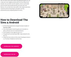 With Sims 4 Mobile from this site you can easily start playing the FULL version of the game for free and enjoy The Sims 4 on Android and iOS. Free Games, Sims 4, Create Your Own, Ios, The Neighbourhood, It Works, Android, Play, The Neighborhood